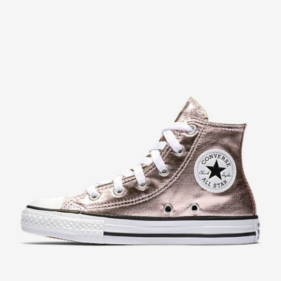 Converse Other - Girls Youth Converse Sneakers High Top Rose Quartz